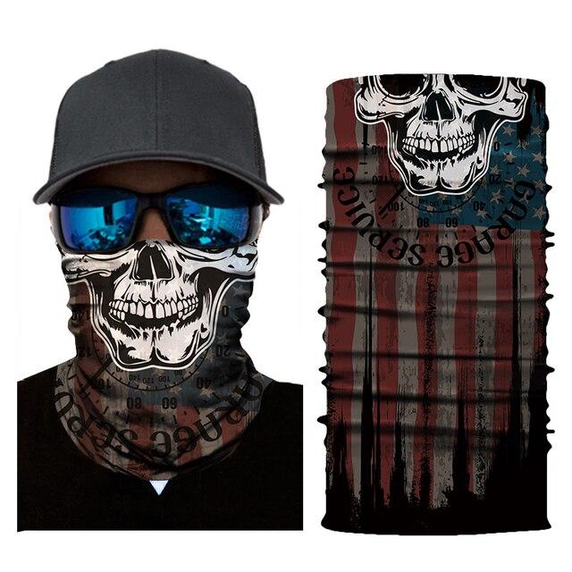 New Motorcycle Face Mask Halloween Scarf Mask face shield Head Scarf Neck Warmer Windproof Sun Mask Balaclava  Biker Masks 3