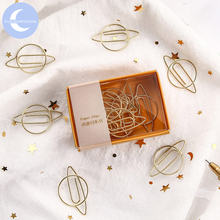 YueGuangXia Creative Model Cute Paper Clips Animal Metal Message Card Notes Page Holder Bookmark 8pcs/box