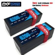 DXF-batería Lipo de 6200mAh, 14,8 V, 80C, para coche a control remoto, 4S, Lipo, carcasa dura con enchufe Deans/XT60 para helicóptero, coche, barco, camión