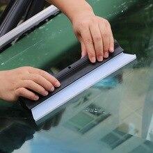 Leepeeガラス窓洗浄ブラシ風防洗浄ツールミラーウィンドウワイパー自動ワイパークリーナー刃洗車機スクレーパーゴム