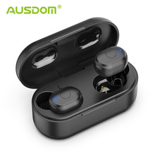 AUSDOM TW01 TWS Wireless Bluetooth Earphone 20H Play Time Wireless Headphone CVC8.0 Noise Cancelling Sport Earbuds With Dual Mic(China)