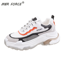 MBR FORCE النساء أحذية رياضية مكتنزة 2020 منصة الموضة أحذية رياضية السيدات العلامة التجارية أسافين حذاء كاجوال للمرأة الارتفاع زيادة الأحذية