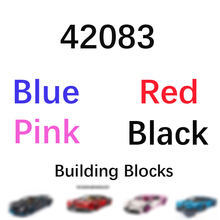 In stock Technic Car series bule pink red black car model supercar building blocks