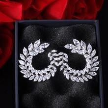 UILZ Fashion Women Unique Stud Earring For Shiny Luxury AAA Cubic Zirconia Jewelry Prom Evening Wedding Bridesmaid UE455