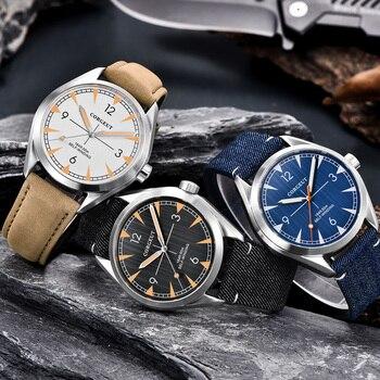 Corgeut Luxury Brand men Wrist Watch Automatic Sport Design clock male Sapphire leather Mechanical male wristwatch