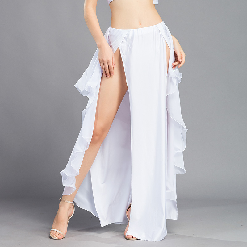 Image 2 - New Performance belly dance Costume Waves Skirt Dress slit Skirt Dress Carnival Colour 6Belly Dancing   -