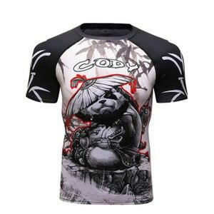 Rashguard мужские футболки для бокса Mma BJJ Muay Thai Mma 3D футболки с изображением кикбоксинга бокса, Боевая боксерская футболка Bjj Gym Boxeo