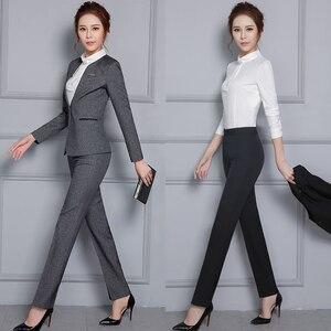 Image 2 - Vrouwen Formele Broek 2019 Herfst Hoge Taille Dames Rechte Kantoor Broek werkkleding Grote Plus Size S ~ 4XL 5XXXXXL Pantalon Femme