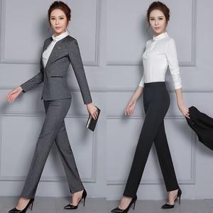 Image 2 - Women Formal Pants 2019 Autumn High Waist Ladies Straight Office Trousers Work wear Big Plus Size S~4XL 5XXXXXL Pantalon Femme