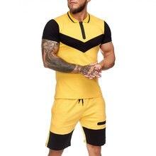 Костюм спортивный мужской тонкий из рубашки с коротким рукавом
