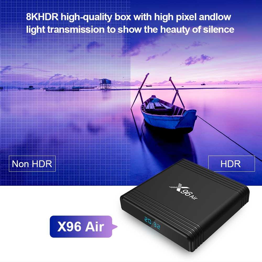 X96 Air Android TV Box Amlogic S905X3 4GB RAM 64GB ROM 2,4G 5G WIFI bluetooth 4,1 android 9.0 4K USB3.0 Set Top Box medien spielen