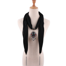 womens shawl necklace national costume accessories Pendant Necklace scarf pendant