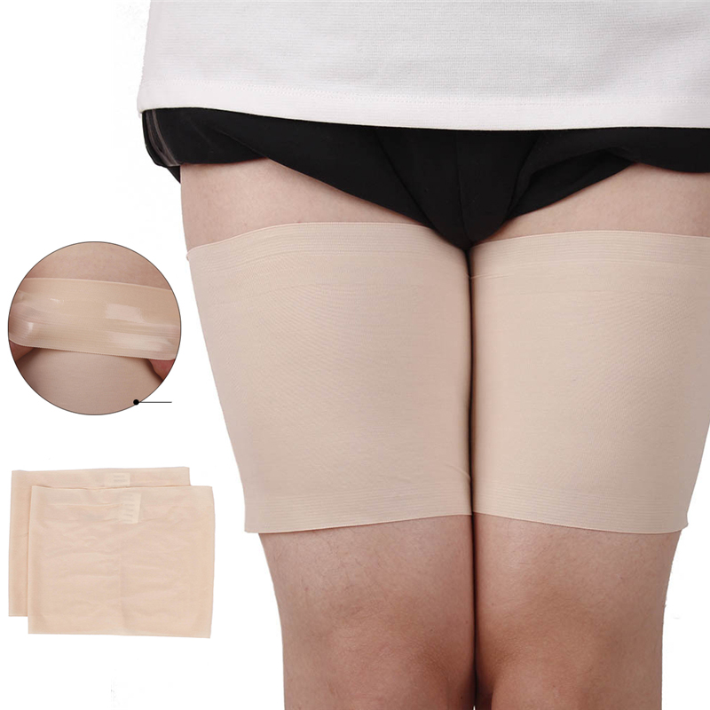 Leg Warmers Women Anti Chafing Thigh Bands High Elastic Silica Gel Anti-friction Protection Sock Boots Femme Warmers