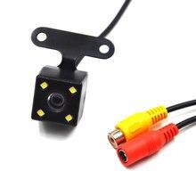 Автомобильная задняя Камера заднего вида Камера Скрытая камеры заднего вида для камера заднего вида для записи 4 светодиодных Ночное видение HD CDD объектив 2,5 мм Jack