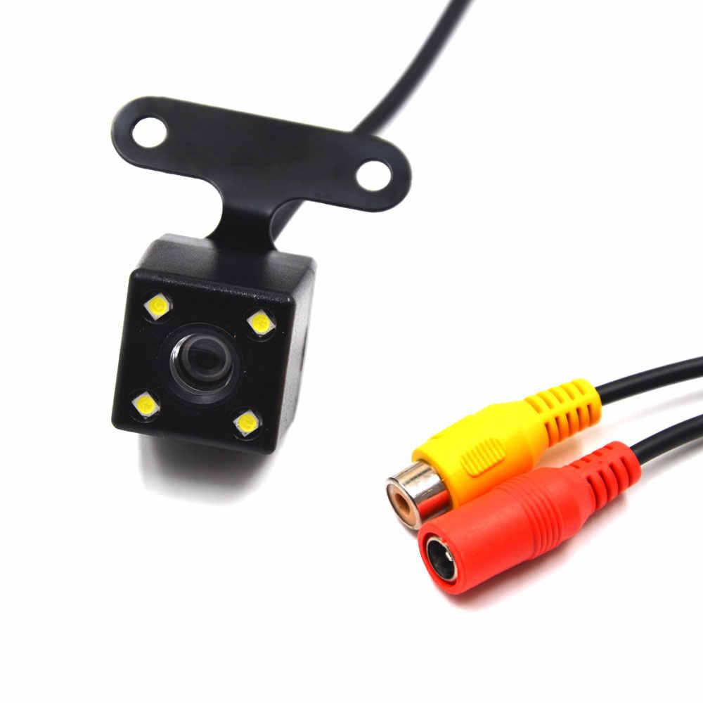 Cámara de visión trasera para coche cámara de visión trasera oculta Cámara inversa para coche Dvr espejo grabadores 4 Led visión nocturna HD CDD conector de lente de 2,5mm
