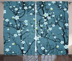 Kwiatowe zasłony okienne Sakura gałęzie drzewa blady japoński kwiat wiśni wiosna forma salon zasłona dekoracyjna do sypialni okno