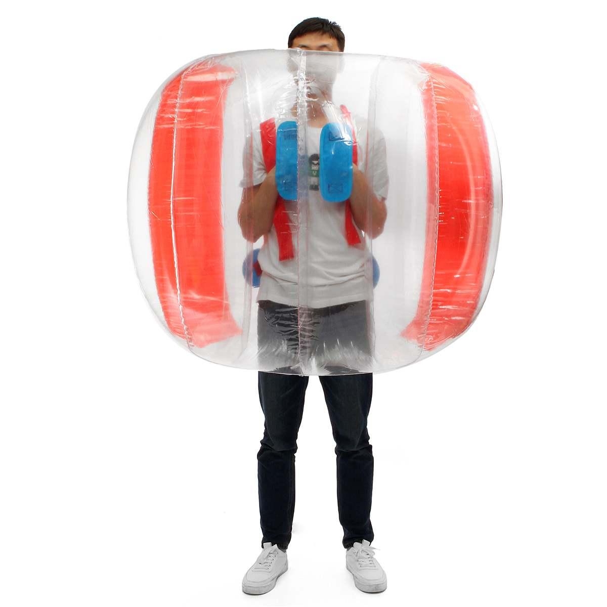 Bubble Voetbal Zorb Bal 120CM Bumper Bal Opblaasbare Body Zorb Bubble Bal Voetbal Kids Outdoor Speelgoed Kerstcadeau - 2