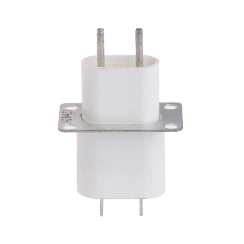 Home Electronic Microwave Oven Magnetron Filament 4 Pin Socket Converter White