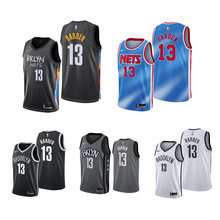2021 masculino brooklyn nets james harden 13 # city edition basquete jérsei