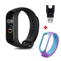 Pulsera inteligente M4, reloj inteligente deportivo resistente al agua con control del ritmo cardíaco y de la presión sanguínea, podómetro