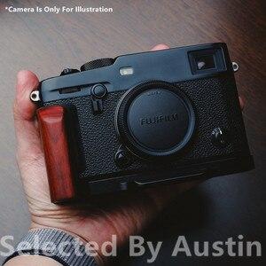 Image 3 - الخشب الخشب قبضة اليد قوس الإفراج السريع ل لوحة ل فوجي Xpro3 فوجي فيلم X PRO3