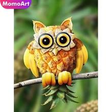 MomoArt Diamond Painting Animal Owl Mosaic Full Drill Square Cross Stitch Wall Decoration