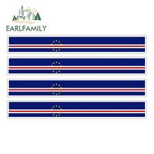 EARLFAMILY-pegatina de bandera de carreras para motocicleta, calcomanía de parachoques para coche, bicicleta, Moto, Tuning, capa Verde, 13cm x 1,7 cm, 4 Uds.