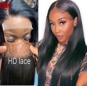 Invisiable HD 5x5 закрытие с прямыми пучками бразильские волосы плетение пучки Remy человеческие волосы Кружева Закрытие с пучками
