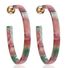 Large Acrylic CC Earrings Fashion Colorful Leopard Minimalist Girls Boho Simple Korean Earings Punk Tortoiseshell Earrings 2020