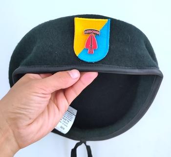 Nowa armia amerykańska 8 Siły specjalne grupa wełna zielony Beret siły specjalne dowództwo dywizja czapka wojskowa czapka 1963 ~ 1972 tanie i dobre opinie CINESSD Z wełny CN (pochodzenie) Dla dorosłych Stałe Formalne
