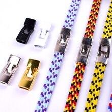 Metal Shoelaces Cross-Buckle-Accessories Sneaker-Kits DIY 4pcs/Pair