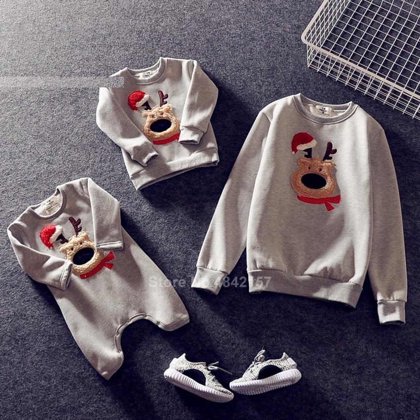 Новинка года; Рождественские свитера для всей семьи; 19 цветов; рождественские худи; пижамы; теплый свитер с вышивкой Санта-Клауса и лося; подарок для взрослых и детей - Цвет: Color3