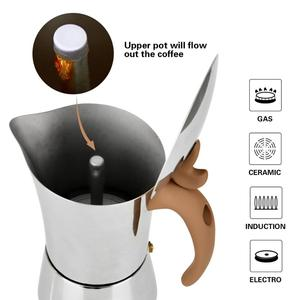 Image 4 - FISSMAN Stainless steel Stove Espresso Maker Latte Mocha Coffee Pot Tool for Home Office Gas and Induction Coffee Maker