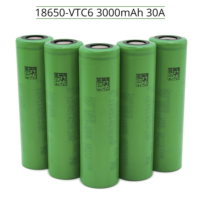 1-20PCS Original VTC6 18650 3000mAh Li Ion 3.7 Battery For SONY Us18650 Vtc6 3000mAh Battery E-cigarette Toys Tools Flashlight