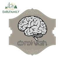 EARLFAMILY 13cm x 12.8cm nie myj mózgu zderzak okno naklejka Vinyl naklejki samochodowe wodoodporne akcesoria samochodowe