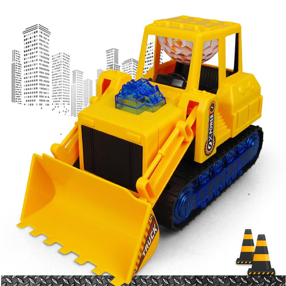 Electric 360 Rotation Musical LED Bulldozer Construction Car Kids Educational Toys For Children Gift