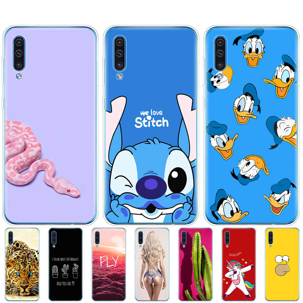 For Samsung Galaxy A50 Case bumper Silicone tpu Cover on For Samsung A50 A505 A505F SM-A505F Soft copas 6.4 Painted Shells Bags