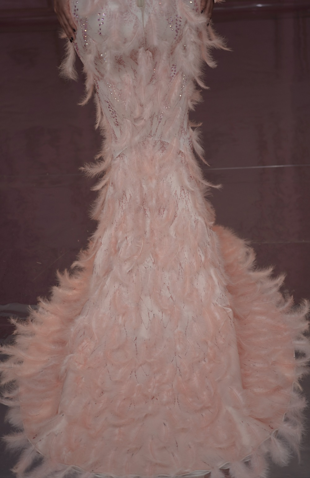 Pink Feather Dress (3)