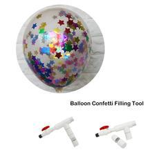 Plastic Balloon Confetti Filling Tool Birthday Party Wedding Decorations Latex Accessories