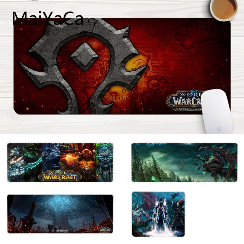 MaiYaCa New Printed World Of Warcraft Wow Keyboard Gaming MousePads Large Lockedge Mouse Pad PC Computer Mat