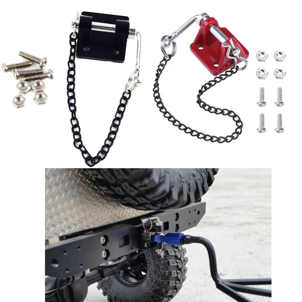 Metal Hitch Trailer Hook for Traxxas TRX4 Axial SCX10 90046 D90 1:10 RC Crawler