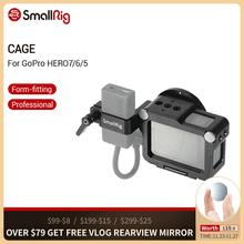 SmallRig הדוק כלוב לgopro גיבור 7/6/5 מצלמה כלוב עם קר נעל + 52mm מסנן הר + אודיו מעבד תמיכה 2320