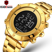 Gold Men Watch Top Luxury Brand Man Military Sport Quartz Wrist Watches 316L Stainless Steel LED Digital Clock Relogio Masculino