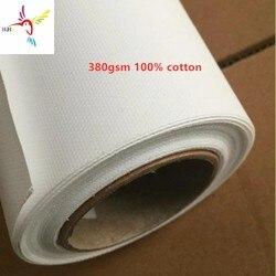 Alta calidad de inyección de tinta impresión digital en tela rollos de lona para Epson HP Canon Mimaki Roland Brother impresora 380gsm 100% de algodón
