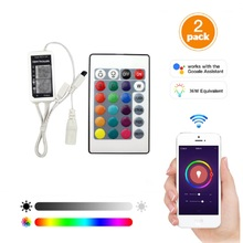 2sets WIFI smart RGB strip controller sync to music work with Alexa Google Home Phone DC 12V WIFI controller for Strip light