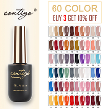 Contigo Latest 15ml 60 Color Gel Varnish Semi-Permanant UV Nail Polish Primer Soak Off Hybrid Gellak Nails Art Base Coat New