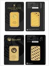 Серебристый сувенир Перт Mint 1 унция Троя, Реплика из чистого золота 99.99% пробы, австралийский высокорельефный жетон, золотой стержень, беспла...