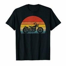 Camiseta negra Vintage de motociclista con silueta Retro 70S, camiseta S-3Xl para hombre, camiseta de manga corta