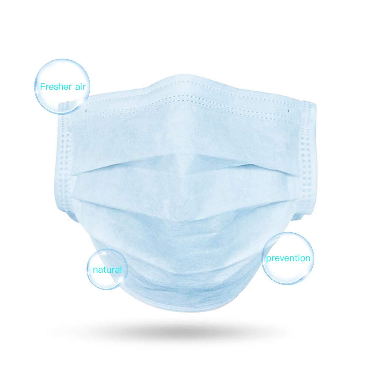 Image 2 - 5/10/20/50pcs 3 layer Disposable Non Woven Masks Filter Medical  Dustproof PM2.5 Mouth Nose Anti Coronavirus face Masks FFP3  -