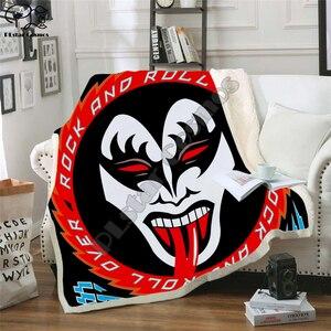 Image 4 - Plstar Cosmos Band Kus Rock & Roll Alle Nite Party Deken 3D Print Sherpa Deken Op Bed Huishoudtextiel Dromerige stijl 11
